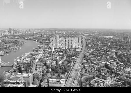 Mai 19, 2018 - Themse, London, England, Vereinigtes Königreich. Werfen Sie einen Blick auf eine der berühmten Flüsse der Welt, die Themse in London.