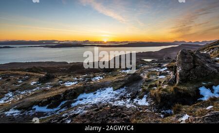 Sonnenaufgang am Storr, Isle of Skye, Schottland - Stockfoto