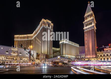 LAS VEGAS - Januar 24, 2018: The Venetian Resort Hotel Casino im Stadtzentrum Komplex auf dem Las Vegas Strip im Paradies, Nevada. - Stockfoto