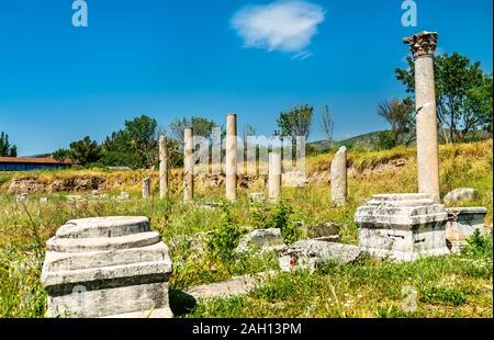 Ruinen von Aphrodisias in der Türkei - Stockfoto