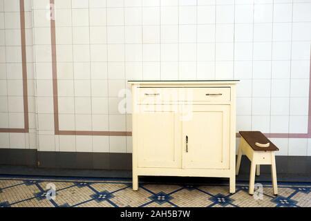 Ein wc Wandschrank der Villa Farnesina - Rom, Italien - Stockfoto