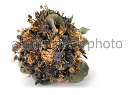 Verdorrte (getrocknet) Wedding Bouquet - Stockfoto