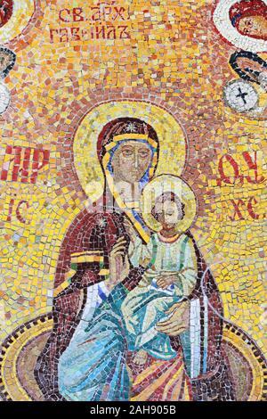 Mosaik, die Jungfrau Maria mit dem Jesuskind