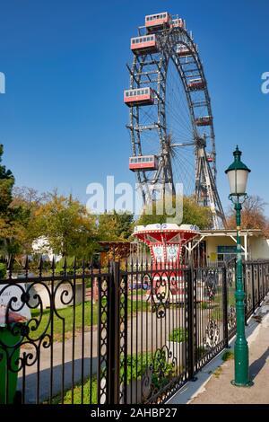 Riesenrad Panoramablick auf das Rad. Prater. Wien Österreich - Stockfoto