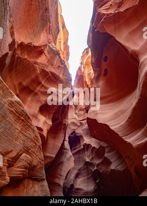 Horseshoe Canyon Slot Canyon in der Wüste in der Nähe der Antelope Canyon und Seite, Arizona, USA - Stockfoto