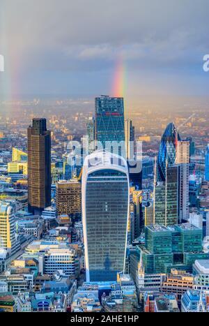 Stadt London Financial District, London, UK - Stockfoto