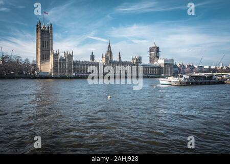 Die Houses of Parliament und Big Ben, London, England, UK - Stockfoto