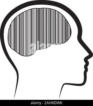 Schwarze Streifen im menschlichen Gehirn - Stockfoto