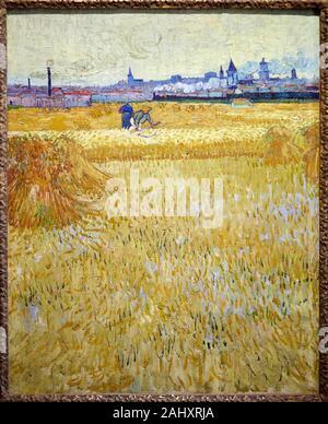 ''' Die Erntemaschinen'', 1888, Vincent Van Gogh (1853-1890), Musée Rodin, Paris, Frankreich - Stockfoto