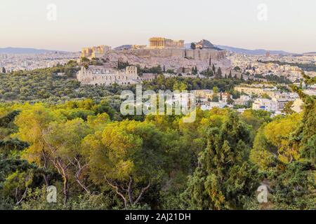 Akropolis von Athen, UNESCO, Athen, Griechenland, Europa - Stockfoto