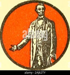 Die Lincoln Geschichte - Kalender 1809 1909; einen hundertsten Geburtstag. Ich 1809. 1909 - Stockfoto