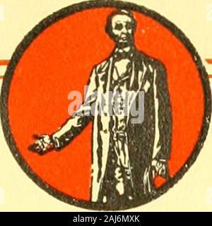 Die Lincoln Geschichte - Kalender 1809 1909; einen hundertsten Geburtstag. Lincolnian * 1909 - Stockfoto