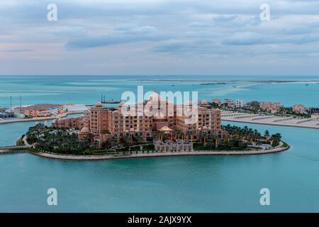 Schöne Luftaufnahme von Marsa Malaz Kempinski Doha Hotel Stockfoto