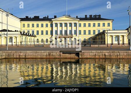 Präsidentenpalast errichtet zwischen 1816 - 1820. 1837 Es wurde gekauft in Residence für Generalgouverneur Finnlands umgewandelt werden. - Stockfoto