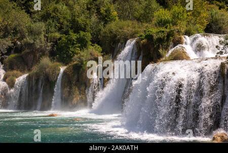 Krka Nationalpark eines der berühmtesten und schönsten Park in Kroatien. Reiseziel - Stockfoto