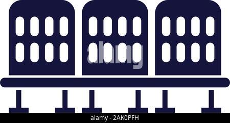 Wartezimmer Stühle isolierten Symbol - Stockfoto