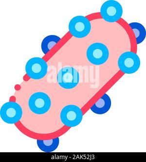 Virus Erreger Element Vektor dünne Linie Zeichen Symbol - Stockfoto