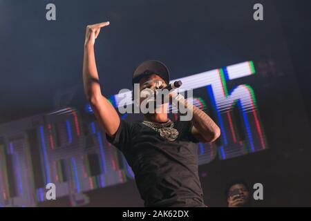 Der amerikanische Rapper Roddy Rich trat am 13. Dezember 2019 beim Winter Breakout Festival 2019 im Pacific Coliseum in Vancouver, BC auf - Stockfoto