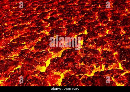 Die lava Dürre in trockenen, Konzept lava Dürre. - Stockfoto