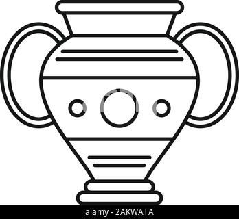 Ägypten vase Symbol. Übersicht Ägypten vase Vektor Symbol für Web Design auf weißem Hintergrund - Stockfoto