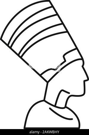 Ägypten Pharao Symbol. Übersicht Ägypten Pharao vektor Symbol für Web Design auf weißem Hintergrund - Stockfoto