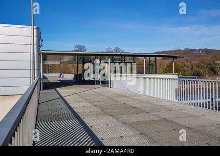 Essen - Nähe Baldeney Barrage am Baldeney See, Nordrhein-Westfalen, Deutschland, Essen, 23.02.2019 - Stockfoto