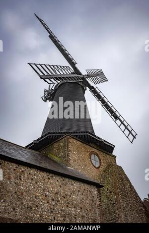 Jahrhundert in West Blatchington Windmill in den Vororten Brighton und Hove, East Sussex, Großbritannien - Stockfoto