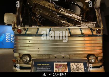 Memphis, TN -5 JAN 2020 - Ansicht des nationalen Bürgerrechtsmuseums im Lorraine Motel, in dem Martin Luther King Jr. in Memphi, Ten, ermordet wurde - Stockfoto