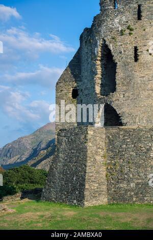 Dolbadarn Schloss in Llanberis, Snowdonia National Park, North Wales - Stockfoto