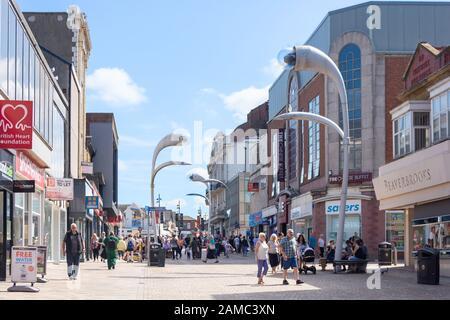 Fußgängerzone Church Street, Blackpool, Lancashire, England, Großbritannien - Stockfoto