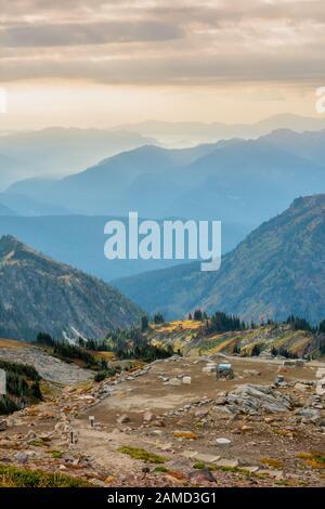 Über dem Panorama Point in Mt. Rainier - Stockfoto