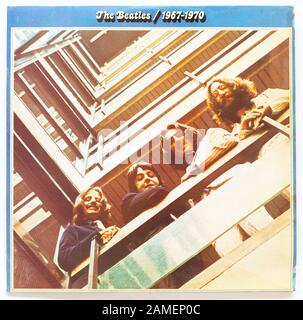 Das Cover der Beatles / 1967-1970 (The Blue Album), 1973 Album der Beatles auf Parlaphone - Stockfoto