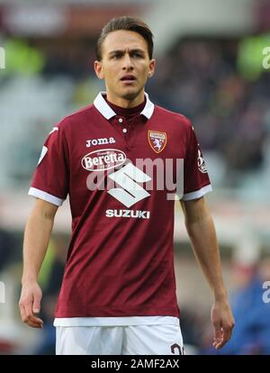 Torino, Italien. Januar 2020. 20 simone edera (torino) während Torino gegen Bologna, italienische Fußball-Serie-A-Männermeisterschaft in Torino, Italien, 12. Januar 2020 - LPS/Claudio Benedetto Credit: Claudio Benedetto/LPS/ZUMA Wire/Alamy Live News - Stockfoto