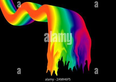 Eine abstrakte psychedelischen Hintergrundbild. - Stockfoto