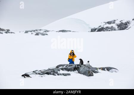 Peterman Island, Antarktische Halbinsel, Antarktis - Stockfoto
