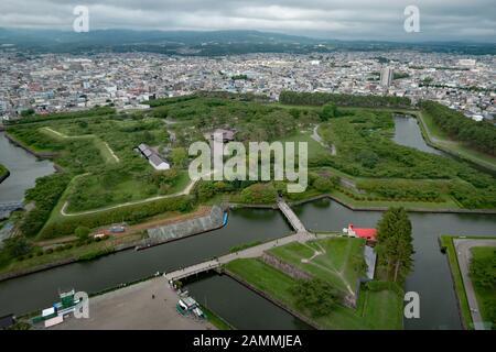 Goryokaku Fort in Hakodate, Hokkaido, Japan, Asien. Japanische Stadtlandschaft, asiatisches Wahrzeichen und Denkmal - Stockfoto