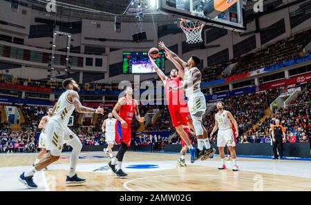 Moskau, Russland. Januar 2020. #31 Kosta Koufos von CSKA Moskau im Spiel gegen Real Madrid während der regulären Saison 2019/2020 Turkish Airlines Euroleague Runde 19 in der Megasport Arena.(Endstand: CSKA Moskau 60 - 55 Real Madrid) Credit: Sopa Images Limited/Alamy Live News - Stockfoto