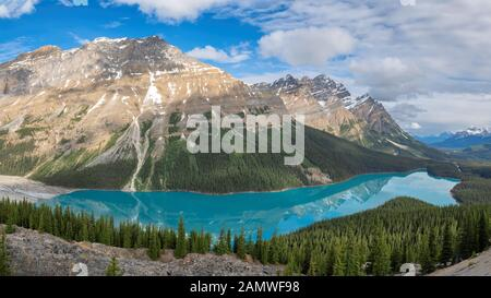 Peyto Lake in Rocky Mountains, Kanada - Stockfoto