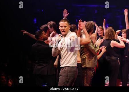 "Januar 16, 2020, Berlin: Channing Tatum kommt an der Premiere des Theaterstücks ""MAGIC MIKE LIVE"" im Theater am Potsdamer Platz. | Verwendung weltweit - Stockfoto"