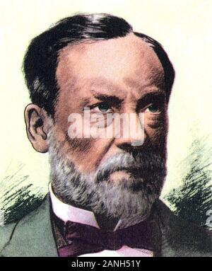 LOUIS PASTEUR (1822-1895) französische Biologe, Mikrobiologe und Chemiker, um 1890 - Stockfoto