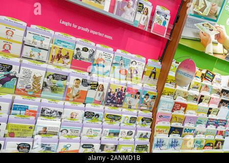 Miami Florida Wal-Mart Walmart Einkaufen für den Verkauf Einzelhandel anzeigen Grußkarten - Stockfoto