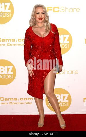 Los Angeles, CA. 16 Jan, 2020. Alana Evans in der Ankunftshalle für 2020 XBIZ Awards, der J.W. Marriott LA Live, Los Angeles, CA 16. Januar 2020. Credit: Priscilla Grant/Everett Collection/Alamy leben Nachrichten - Stockfoto