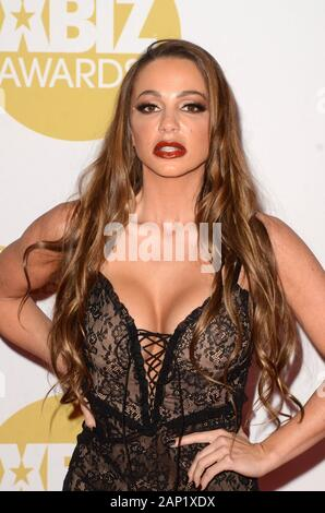 Los Angeles, CA. 16 Jan, 2020. Abigail Mac in der Ankunftshalle für 2020 XBIZ Awards, der J.W. Marriott LA Live, Los Angeles, CA 16. Januar 2020. Credit: Priscilla Grant/Everett Collection/Alamy leben Nachrichten - Stockfoto