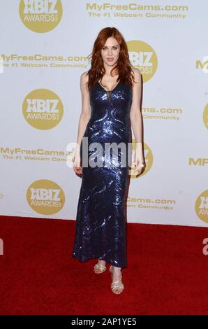 Los Angeles, CA. 16 Jan, 2020. Maitland Ward in der Ankunftshalle für 2020 XBIZ Awards, der J.W. Marriott LA Live, Los Angeles, CA 16. Januar 2020. Credit: Priscilla Grant/Everett Collection/Alamy leben Nachrichten - Stockfoto