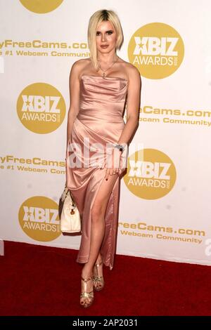 Los Angeles, CA. 16 Jan, 2020. Julia Masakowa in der Ankunftshalle für 2020 XBIZ Awards, der J.W. Marriott LA Live, Los Angeles, CA 16. Januar 2020. Credit: Priscilla Grant/Everett Collection/Alamy leben Nachrichten - Stockfoto