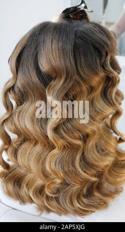 Lange gesunde Haare in der Friseur - Stockfoto