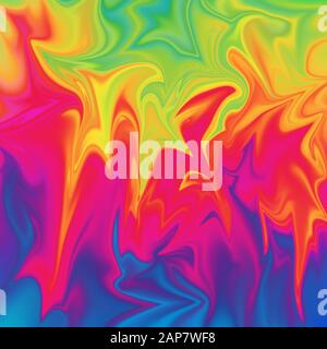 Ein abstraktes psychedelisches Wellenhintergrundbild. - Stockfoto