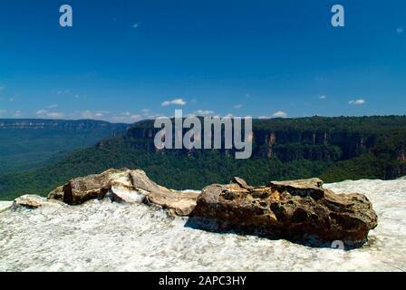 Australien, Blick vom Kings Tableland über den Blue Mountains Nationalpark - Stockfoto