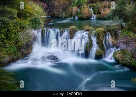 Krka Wasserfälle im Nationalpark - Stockfoto