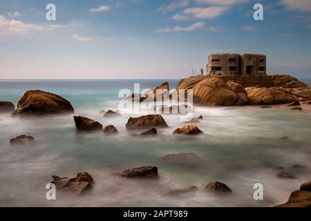 "Schöne ""Costa de la Luz"" in der Nähe der Atlantikküste Spaniens Stockfoto"
